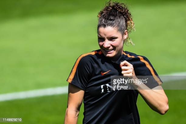 Dominique Bloodworth of Netherlands women during a training session prior to the FIFA Women's World Cup France 2019 group E match between The...