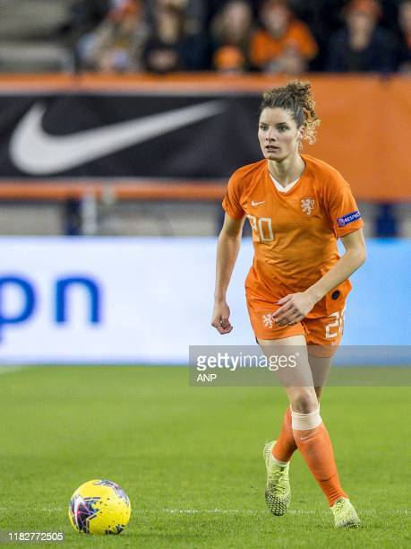 Dominique Bloodworth of Netherlands women during the UEFA Women's EURO 2021 qualifier group A match between The Netherlands and Slovenia at the...