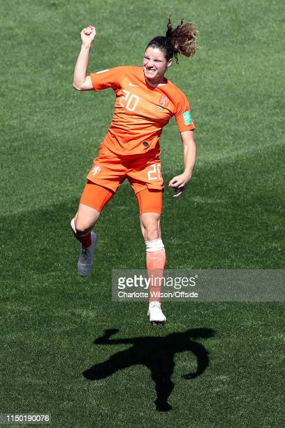 Dominique Bloodworth of the Netherlands during the 2019 FIFA Women's World Cup France group E match between Netherlands and Cameroon at on June 15,...
