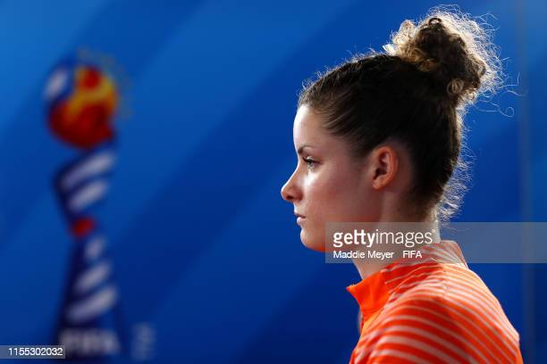 Dominique Bloodworth of the Netherlands looks on in the tunnel before the 2019 FIFA Women's World Cup France group E match between New Zealand and...