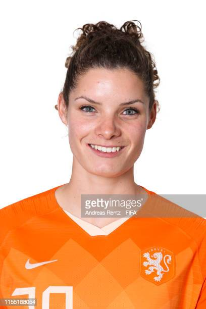 Dominique Bloodworth of the Netherlands poses for a portrait during the official FIFA Women's World Cup 2019 portrait session at Hotel Novotel Le...