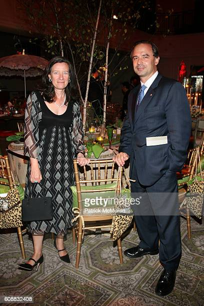 Dominique Browning and Adrian Benepe attend HOUSE AND GARDEN designer kick off at 583 Park Ave on October 16 2007 in New York