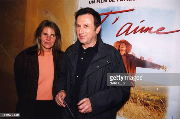 Dominique Cantien et Michel Drucker le 27 mars 2000 à Paris France