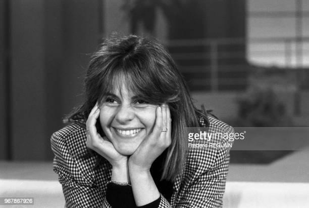 Dominique Cantien productrice de télévision le 25 février 1986 à Paris France