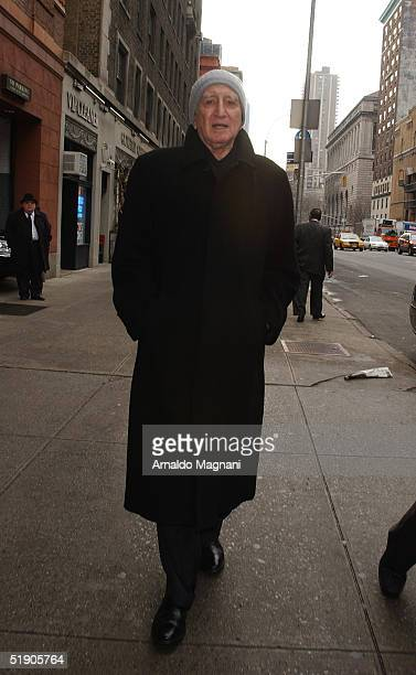 Dominique Chianese of the Sopranos attends the funeral for Jerry Orbach at Riverside Chapel December 31 2004 in New York City
