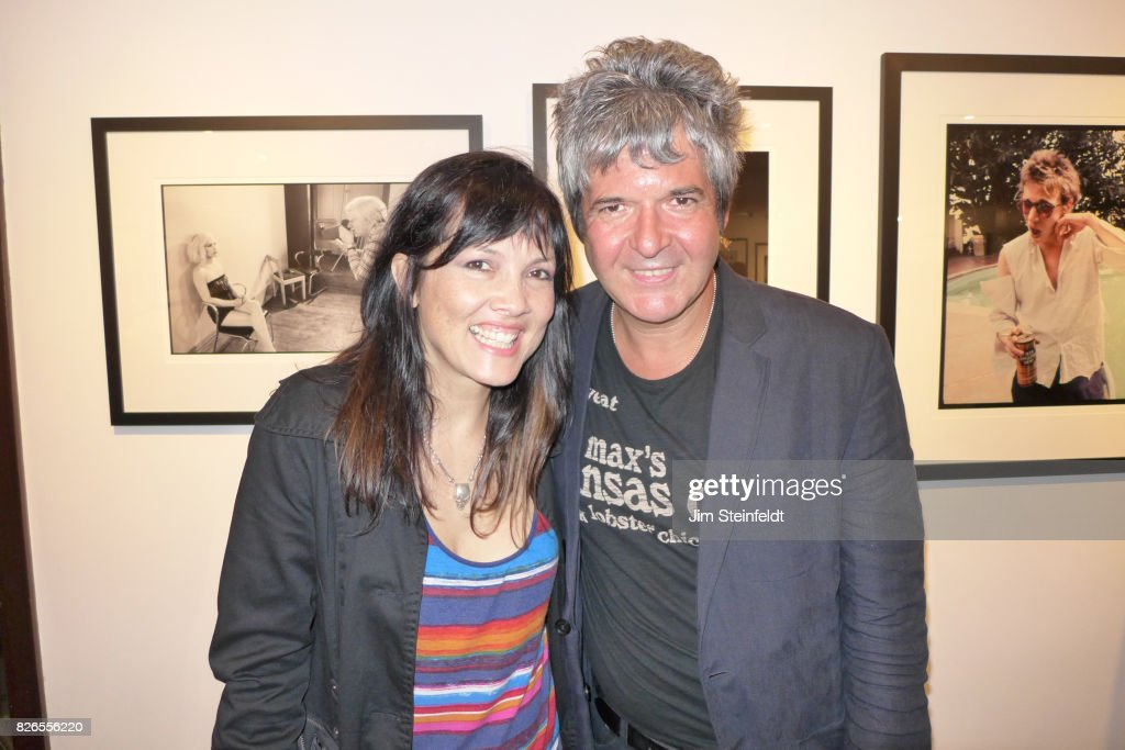 Dominique Davalos and Clem Burke pose for a portrait at the Chris Stein photo exhibit at the Morrison Hotel Gallery at the Sunset Marquis Hotel in Los Angeles, California on August 9, 2013.