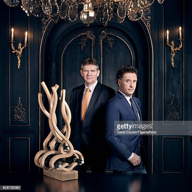 Dominique de Marville head of the Veuve Clicquot cellar and sculptor/designer Pablo Reinoso are photographed for Madame Figaro on September 19 2016...