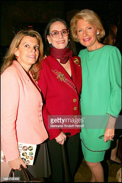 Dominique De Rabaudy Claudine Auger and Monique Raimond at Lunch For Jean Clause Brialy At Maxim's
