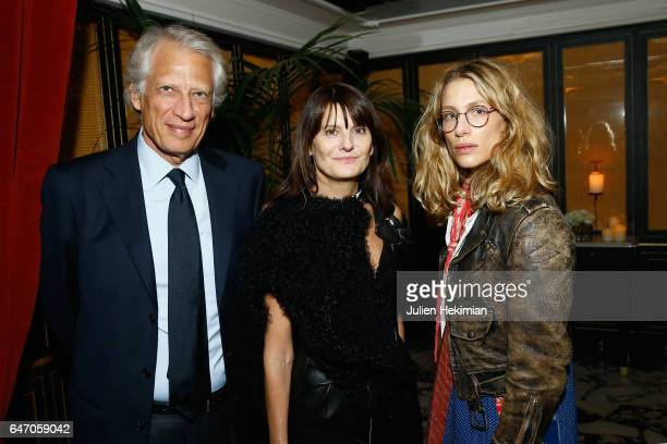 Dominique De Villepin MarieAmelie Sauve and Marie de Villepin attend the Mastermind Magazine launch dinner as part of Paris Fashion Week Womenswear...