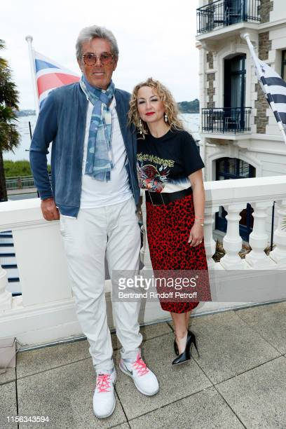 Dominique Desseigne and Christelle Chollet attend the Grand Hotel Barrière Dinard Opening on June 15 2019 in Dinard France