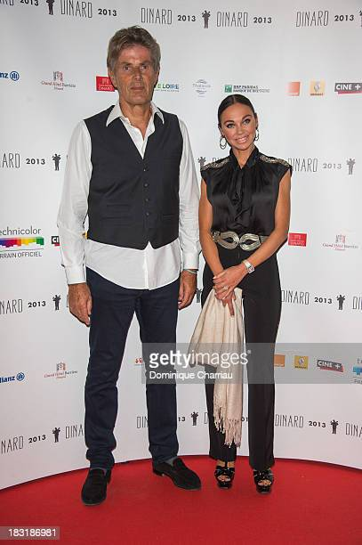 Dominique Desseigne and guest attend the Dinard British film festival closing ceremony on October 5 2013 in Dinard France