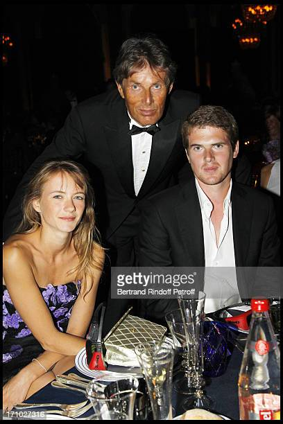 Dominique Desseigne between son Alexandre and friend Pauline at Deauville Ball In Benefit Of Care France