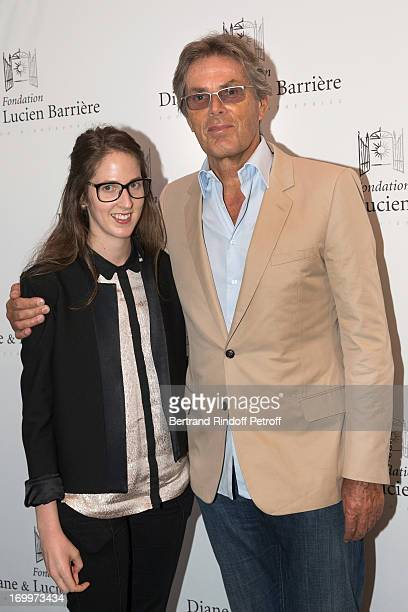 Dominique Desseigne, CEO of the Lucien Barriere Group and his daughterJoy attend the premiere of the film 'Les Petits Princes' at Drugstore Publicis...