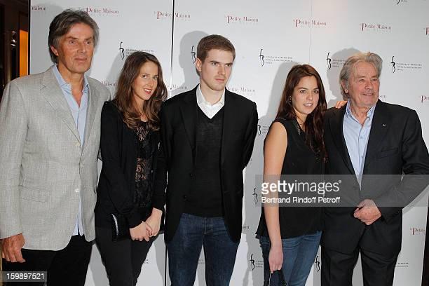Dominique Desseigne his children Joy and Alexandre Anouchka Delon and her father Alain Delon attend 'La Petite Maison De Nicole' Inauguration...
