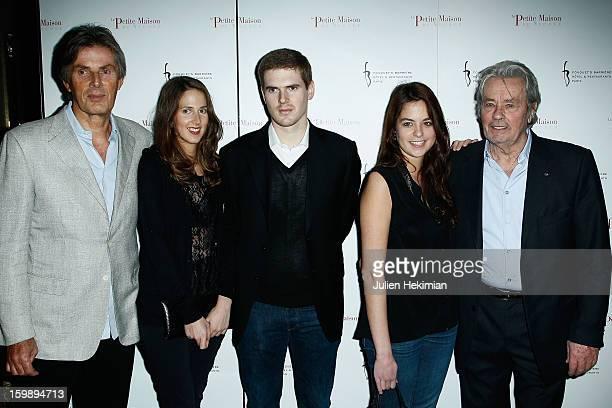 Dominique Desseigne his daughter Joy his son Alexandre Anoucka Delon and her father Alain Delon attend 'La Petite Maison De Nicole' Inauguration...