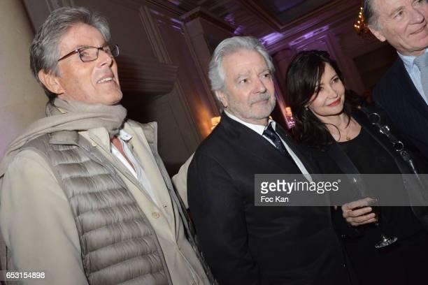 Dominique Desseigne Pierre Arditi and Evelyne Bouix attend 'La Recherche en Physiologie' Charity Gala at Four Seasons Hotel George V on March 13 2017...