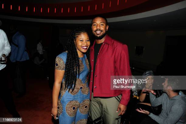 Dominique Fishback and Michael B Jordan attend Warner Bros Hosts A Reception for Just Mercy at 8 1/2 on September 8 2019 in New York City