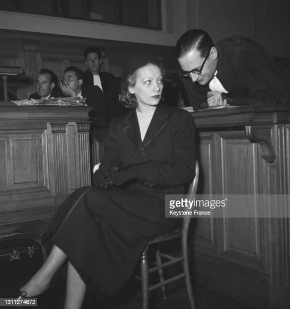 Dominique Fournier lors de son procès pour collaboration, le 23 mai 1949.