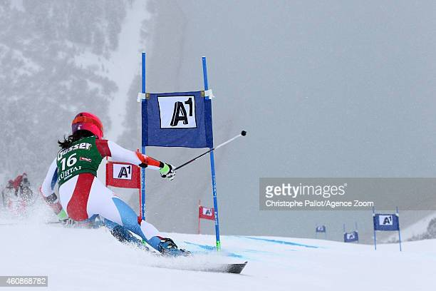 Dominique Gisin of Switzerland competes during the Audi FIS Alpine Ski World Cup Women's Giant Slalom on December 28 2014 in Kuehtai in Tirol Austria