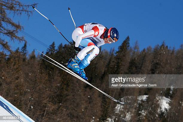 Dominique Gisin of Switzerland competes during the Audi FIS Alpine Ski World Cup Women's Downhill on January 25 2014 in Cortina d'Ampezzo Italy
