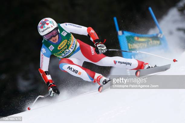 Dominique Gisin of Switzerland in action during the Audi FIS Alpine Ski World Cup Women's Super G on December 2 2018 in Lake Louise Canada