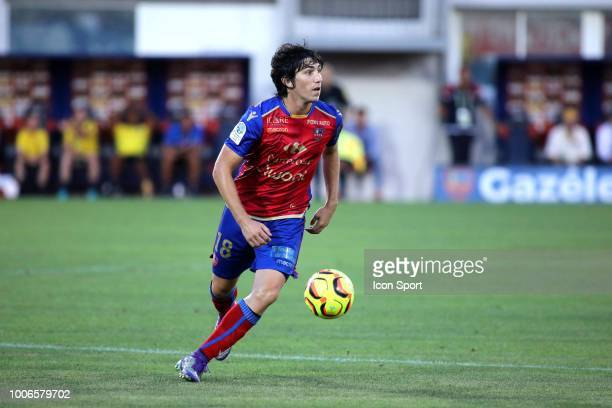 Dominique Guidi of Gazelec during the Ligue 2 match between Gazelec Ajaccio and Paris FC at Stade Ange Casanova on July 27 2018 in Ajaccio France
