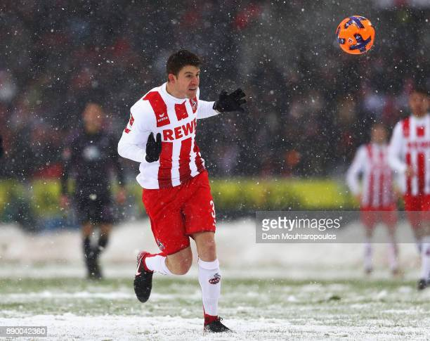 Dominique Heintz of FC Koeln in action during the Bundesliga match between 1 FC Koeln and SportClub Freiburg at RheinEnergieStadion on December 10...