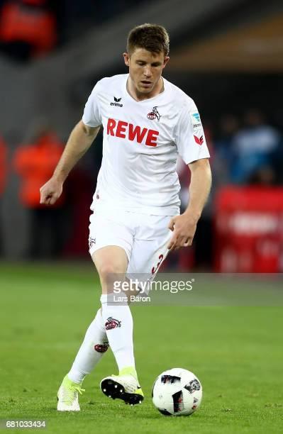 Dominique Heinz of Koeln runs with the ball during the Bundesliga match between 1 FC Koeln and Werder Bremen at RheinEnergieStadion on May 5 2017 in...