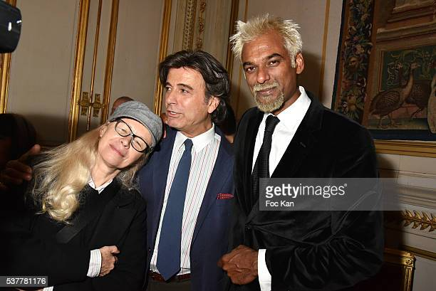 Dominique Issermann Alexandre Zouari and Satya Oblet attend as Kenzo Takada receives the Medal of Chevalier de La Legion d'Honneur at Conseil...