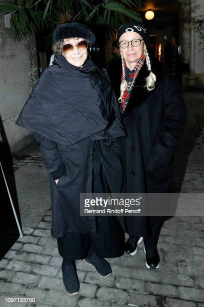 Dominique Issermann and a guest attend the Tribute To Azzedine Alaia as part of Paris Fashion Week on January 20 2019 in Paris France