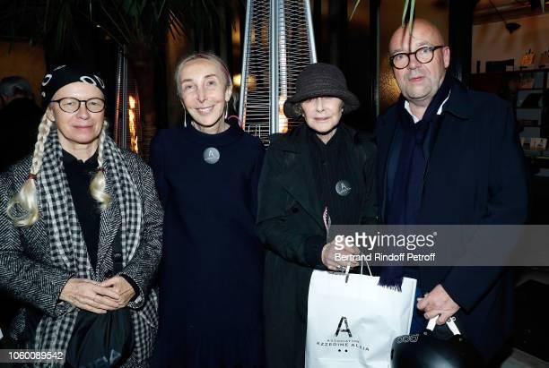 Dominique Issermann Carla Sozzani Sarah Moon and Fabrice Hergott attend Alaia Foundation Library Opening at Galery Azzedine Alaia on November 10 2018...