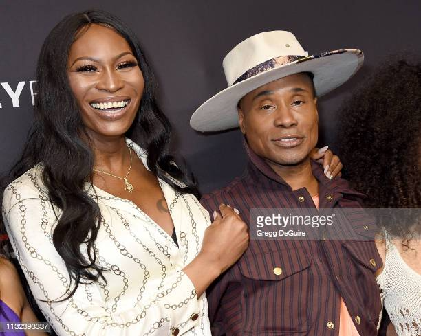 Dominique Jackson and Billy Porter attend The Paley Center For Media's 2019 PaleyFest LA Pose at Dolby Theatre on March 23 2019 in Hollywood...