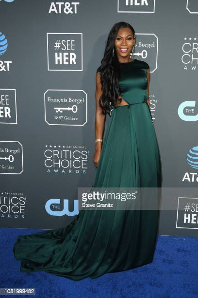 Dominique Jackson attends the 24th annual Critics' Choice Awards at Barker Hangar on January 13 2019 in Santa Monica California