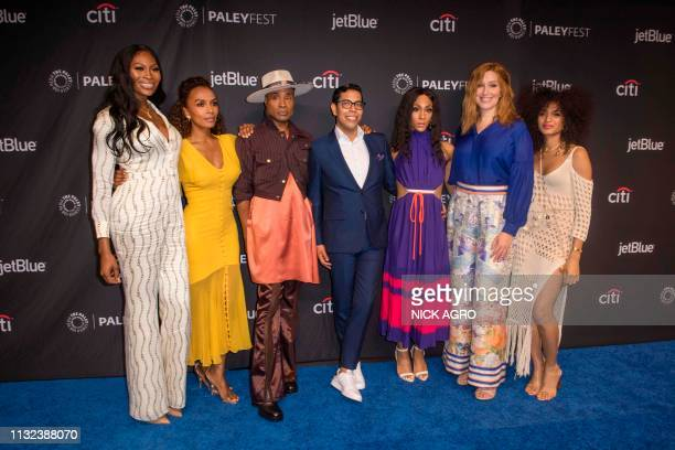Dominique Jackson Janet Mock Billy Porter Steven Canales MJ Rodriguez Our Lady J and Indya Moore arrive for Paley Center for Media's 2019 PaleyFest...