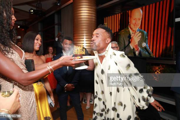 Dominique Jackson, Mj Rodriguez, Dyllon Burnside and Billy Porter attend Vanity Fair and FX's annual Primetime Emmy Nominations Party on September...