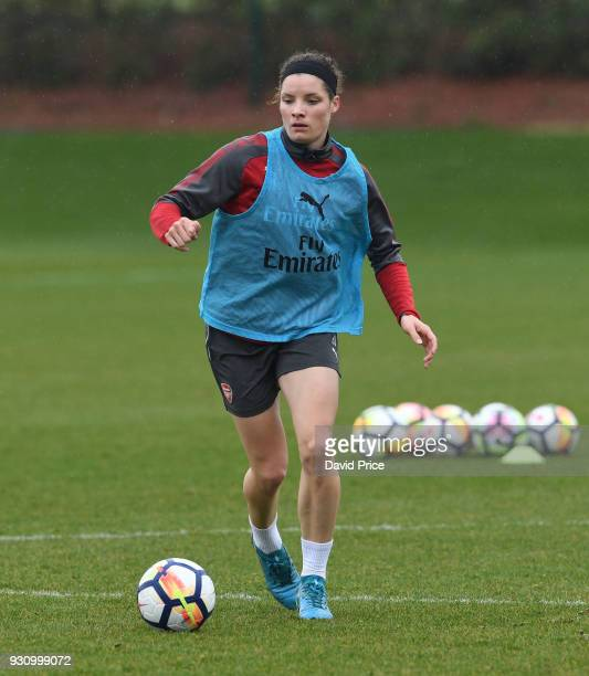 Dominique Janssen of Arsenal during an Arsenal Women Training Session at London Colney on March 12 2018 in St Albans England