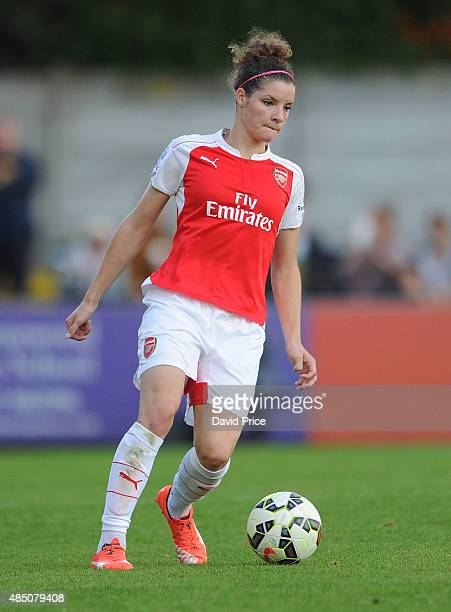 Dominique Janssen of Arsenal during the match between Arsenal Ladies and Chelsea Ladies at Meadow Park on August 23 2015 in Borehamwood England