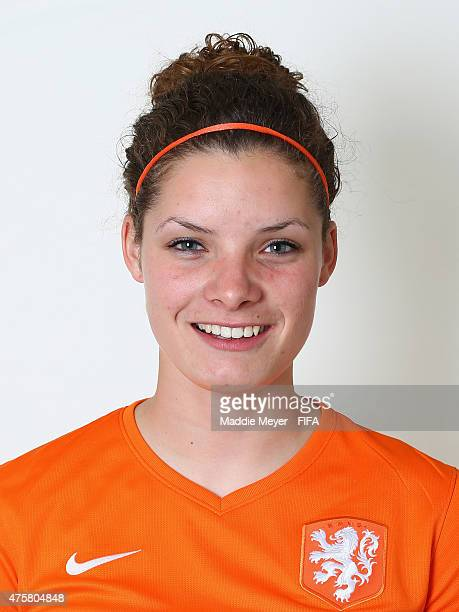 Dominique Janssen of Netherlands during the FIFA Women's World Cup 2015 portrait session at the Delta Edmonton South on June 3 2015 in Edmonton Canada