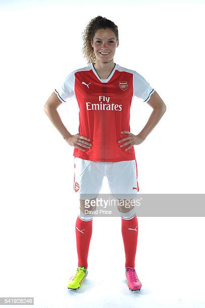 Dominique Janssen of the Arsenal Ladies during their photocall at London Colney on June 16 2016 in St Albans England