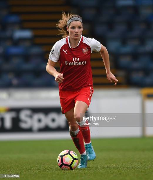 Dominique Janssen of the Arsenal Women during the match between Reading FC Women and Arsenal Women at Adams Park on January 28 2018 in High Wycombe...