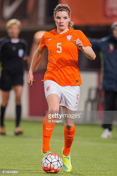 Dominique Janssen of the Netherlands during the 2016 UEFA Women's Olympic Qualifying Tournament match between Netherlands and Sweden on March 9 2016...