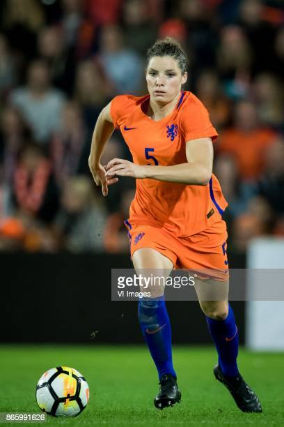 Dominique Janssen of the Netherlands during the FIFA Women's World Cup 2019 qualifying match between The Netherlands and Norway at the Noordlease...