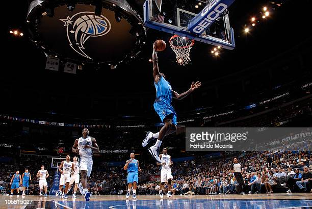 Dominique Jones of the Dallas Mavericks shoots a layup against the Orlando Magic on October 20, 2010 at Amway Center in Orlando, Florida. NOTE TO...