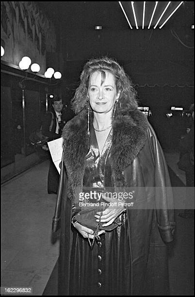 Dominique Lavanant at the Victoires De La Musique French music awards ceremony in 1986
