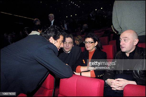 Dominique Lavanant Michel Blanc and Patrick Bruel in Paris France on January 25 2001