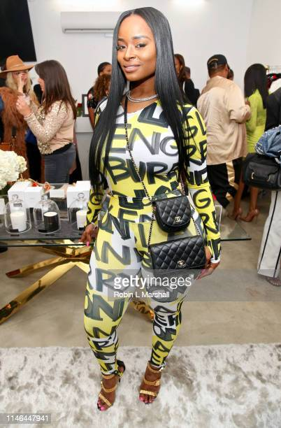 Dominique Lenard attends the Jennifer Williams Classy Girl Wardrobe Sip Shop at Beverly Muse on May 01 2019 in Los Angeles California