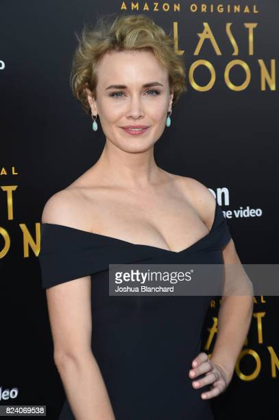 Dominique McElligott arrives at the Premiere Of Amazon Studios' The Last Tycoon at the Harmony Gold Preview House and Theater on July 27 2017 in...