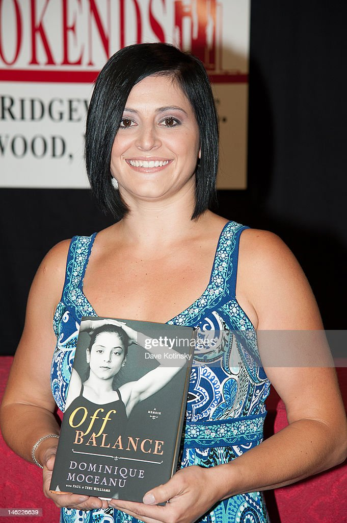 """Dominique Moceanu Signs Copies Of Her New Book """"Off Balance"""""""