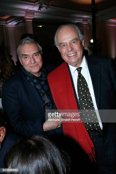 Dominique Perrault and Frederic Mitterrand attend the celebration of the 10th Anniversary of the Fondation Prince Albert II De Monaco at Salle Gaveau...