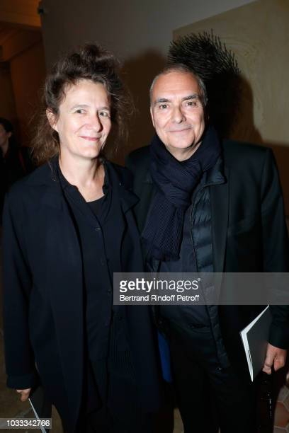 Dominique Perrault and his wife Gaelle attend the Kering Heritage Days Opening Night at 40 Rue de Sevres on September 14 2018 in Paris France